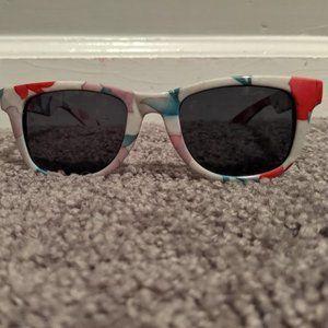 Women's AJ Morgan White Floral Sunglasses